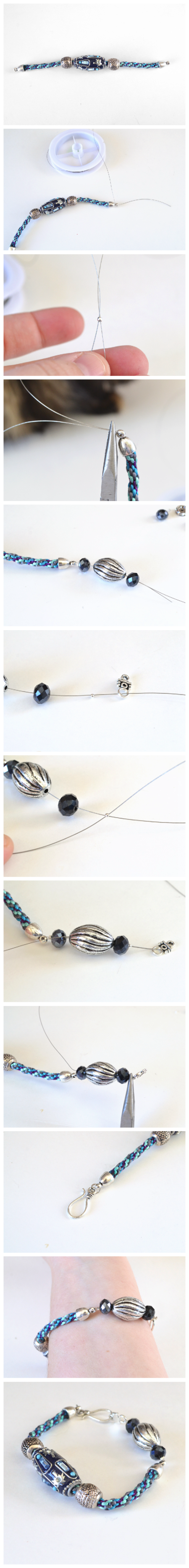 DIY Bracelet Using a Too Short Kumihimo Braid
