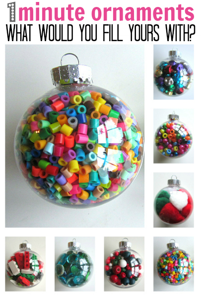 1 Minute Christmas Ornaments