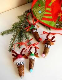 Reindeer from pine cones | DIY