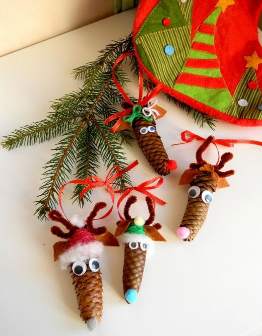 Reindeer from pine cones | DIY