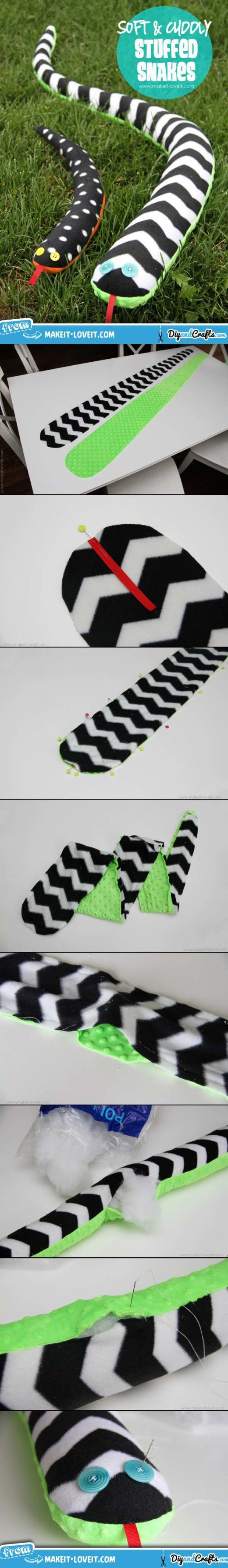 Stuffed Toy Snakes | DIY