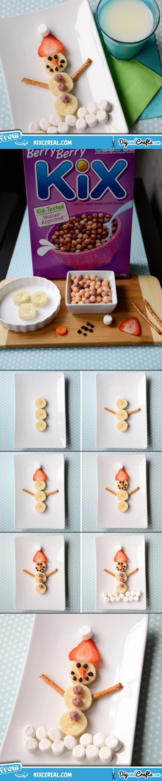 Food Art – A Fruity Snowman Snack