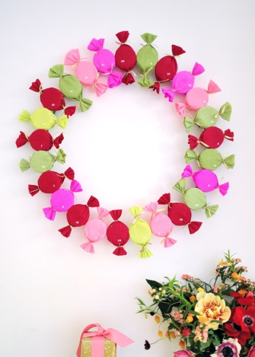 Bonbon Advent Wreath DIY