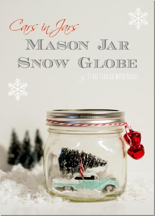 Car in Jar – Snow Globe   DIY