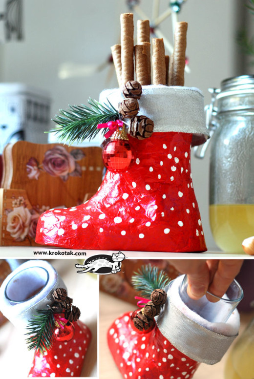 Christmas Boot Papier M Ch Diy Crafts