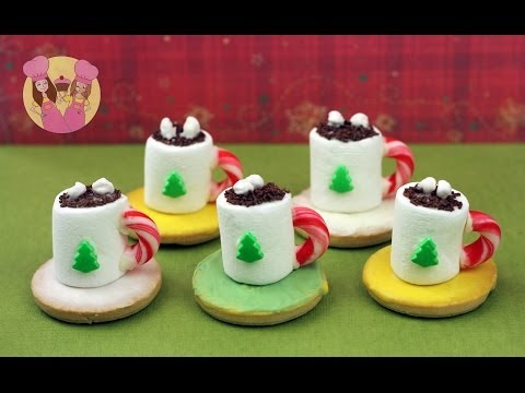 Christmas HOT COCOA TREATS – make mini hot chocolate cookie treats for santa