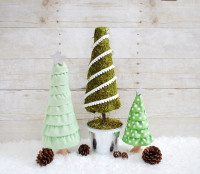 Christmas Tree Craft With Ruffles