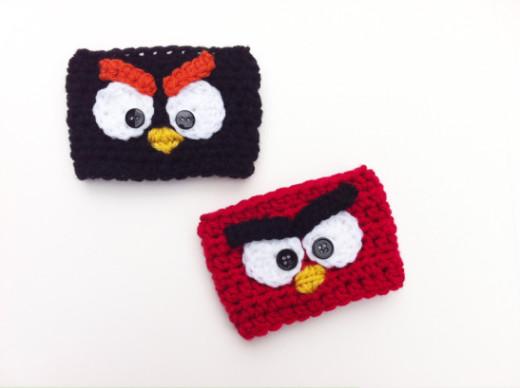 Crochet Angry Birds Coffee Cozies