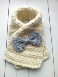 Crochet Toddler Bow Scarf Tutorial  | DIY