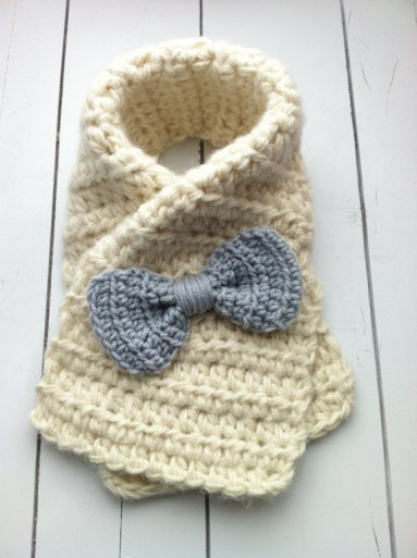 Crochet Toddler Bow Scarf Tutorial  | DIY