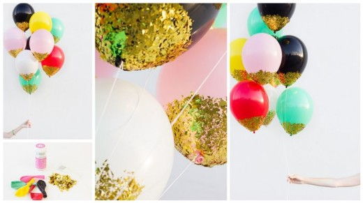 DIY Confetti-Dipped Balloons