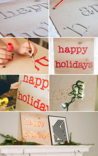 DIY Happy Holidays Marquee Sign Jade and Fern