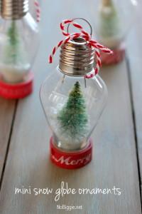 DIY: mini snow globe ornament