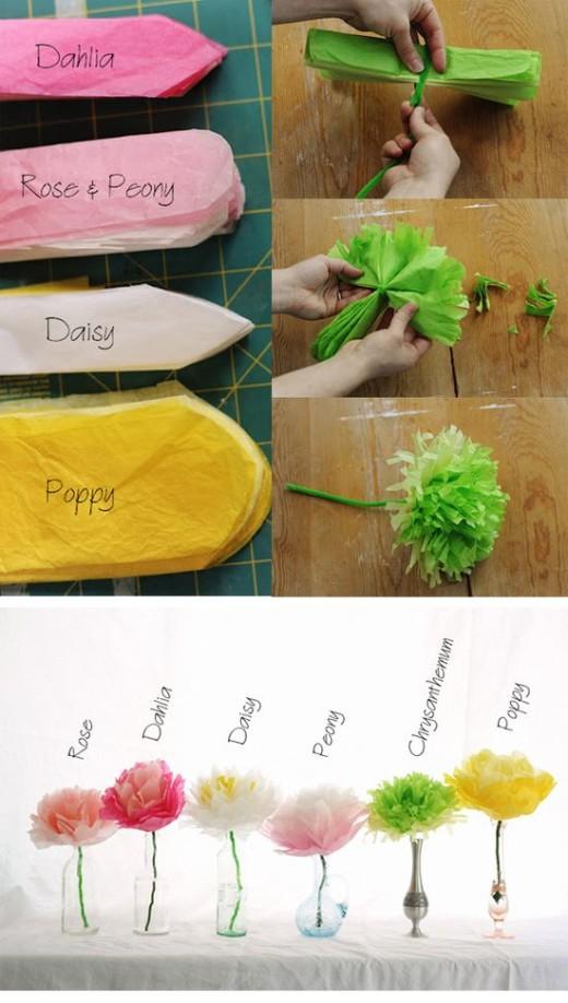Tissue Paper Flowers | DIY