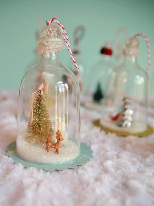 DIY Vintage Inspired Bell Jar Ornaments | My So Called Crafty Life