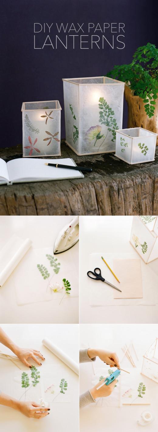 DIY Wax Paper Lanterns