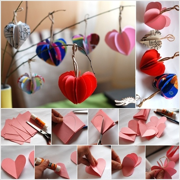Zoom From Krokotak Easy Paper Hearts Tree To Decorate Your Home