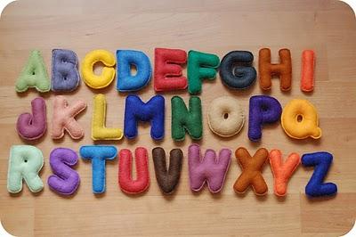 Handmade Felt  Alphabet Letters
