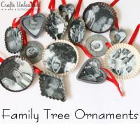 Family Tree Handmade Christmas Ornaments