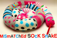 Grosgrain: Mismatched Socks? Sew a Sock Snake!
