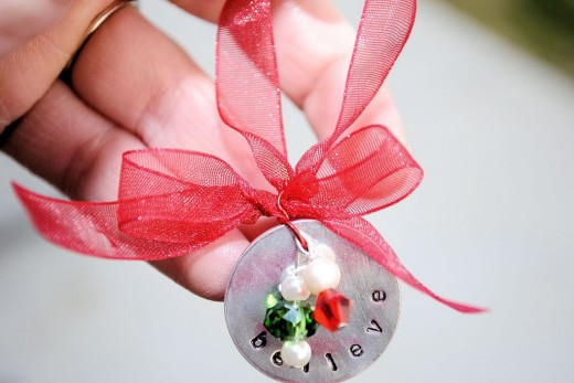 Hand Stamped Christmas Ornament – Crazy Little Projects