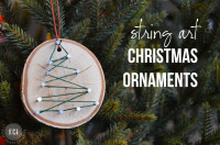 Handmade Christmas Ornaments: String Art Ornaments