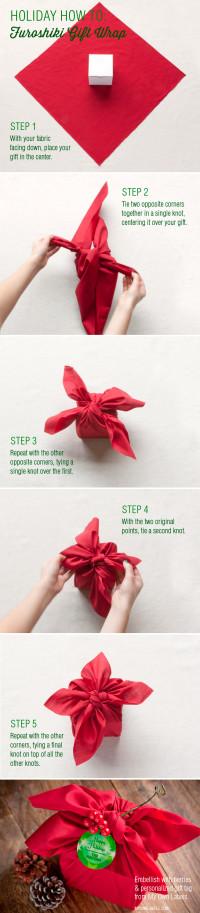 Holiday How-To: Furoshiki Gift Wrap