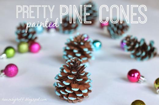 Pretty Painted Pine Cones | DIY …