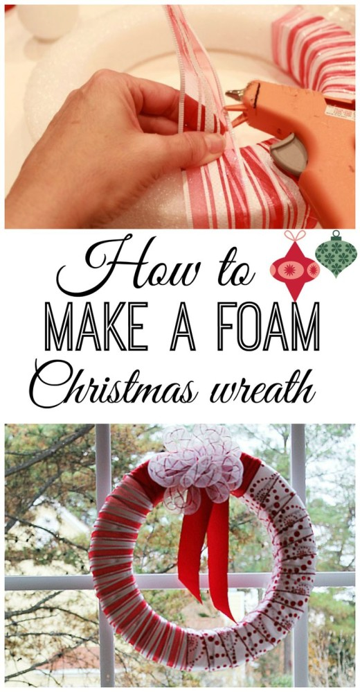How to make a Christmas foam wreath for your window.