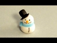 How to Make a Fondant Snowman for Christmas Cake Decorating