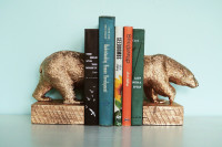How to Make Gilded Polar Bear Bookends