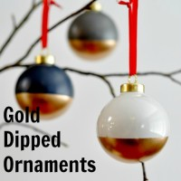 How To Make Gold-Dipped Ornaments – Suburble