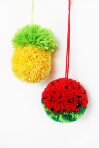 How to Make Tutti Frutti Pom-Poms