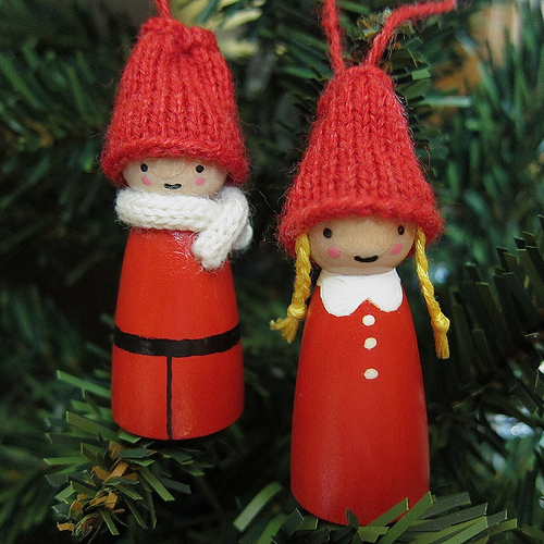 Wooden Snow People DIY Ornaments