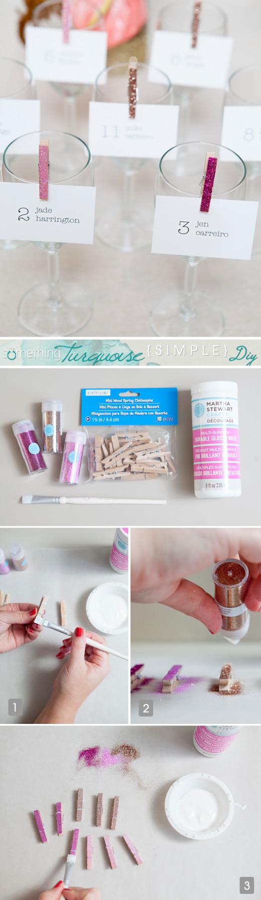 Easy DIY glitter clothespins
