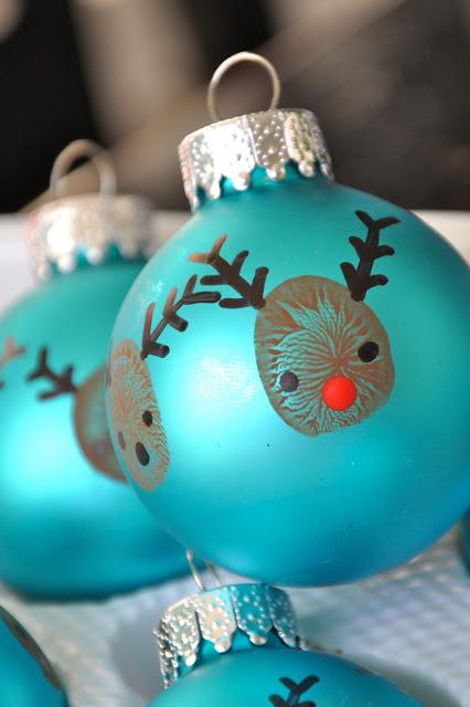 20 minute thumbprint ornaments