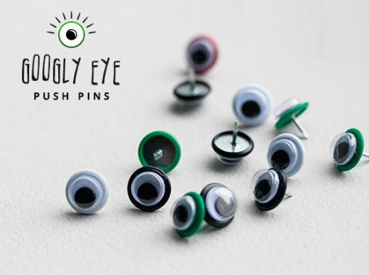 DIY googly eye push pins
