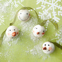 Make a Snowman Faces Garland