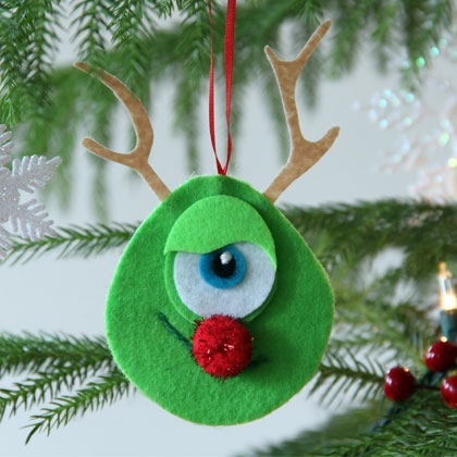 Mike Wazowski Rudolph Nose Ornament | Crafts | Spoonful