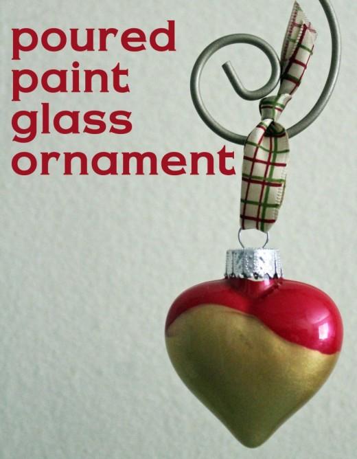 Poured Paint Glass Ornament | DIY