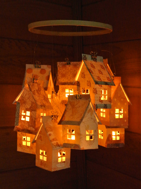 Paper House Luminaries and Mobile | Just Something I Made