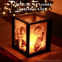 Picture Frame Luminaries   DIY