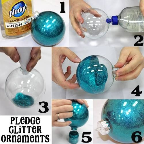 6 Step Pledge Glitter Ornaments | DIY