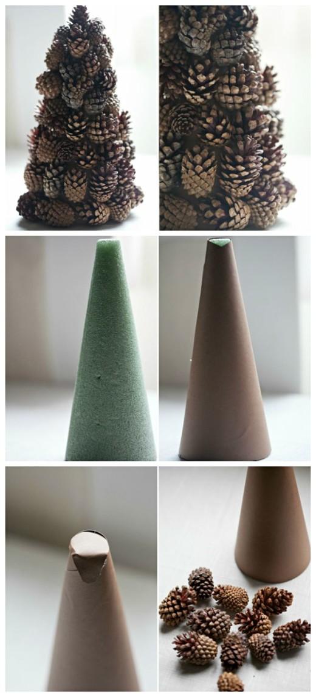 Christmas Ornaments – pine cone tree