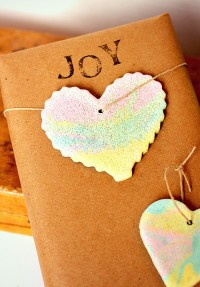 Rainbow Marbled Salt Dough Ornaments | DIY