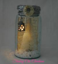 Shabby Chic Christmas Mason Jar | Cupcakes and Crinoline
