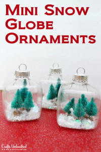 Snow Globe Mini Christmas Ornaments