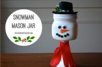 Snowman Mason Jar | DIY