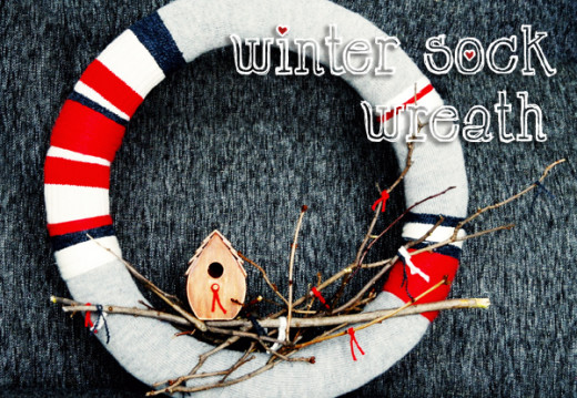 DIY Winter Sock Wreath