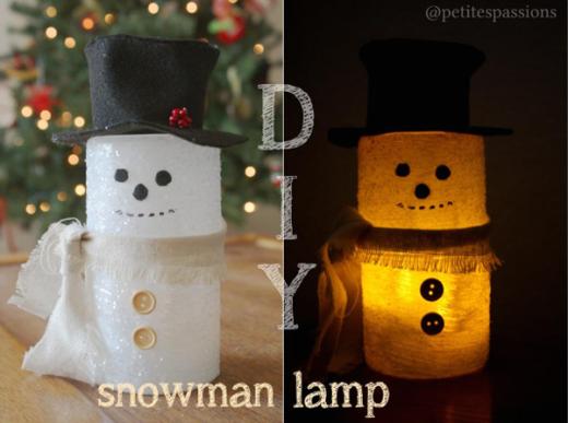 Sparkling Snowman Lamp   DIY